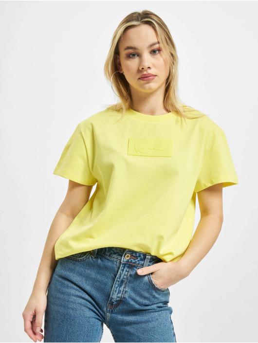 Karl Kani T-Shirt Small Signature Box gelb
