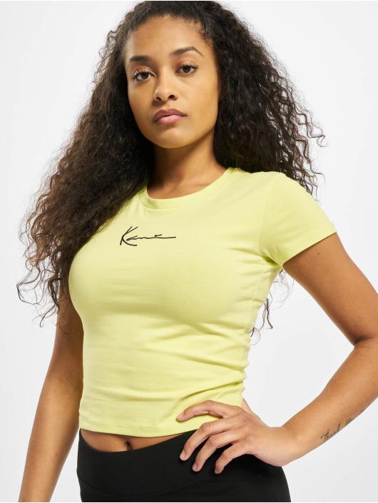 Karl Kani T-shirt Kk Small Signature Short giallo