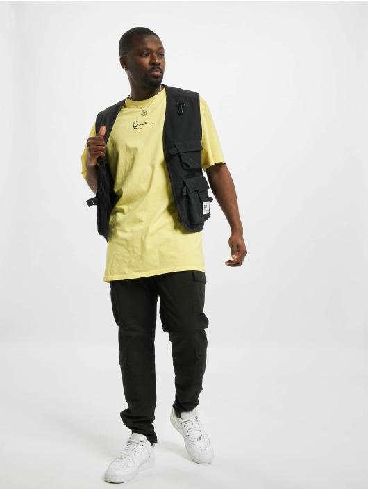 Karl Kani T-shirt Small Signature Washed giallo