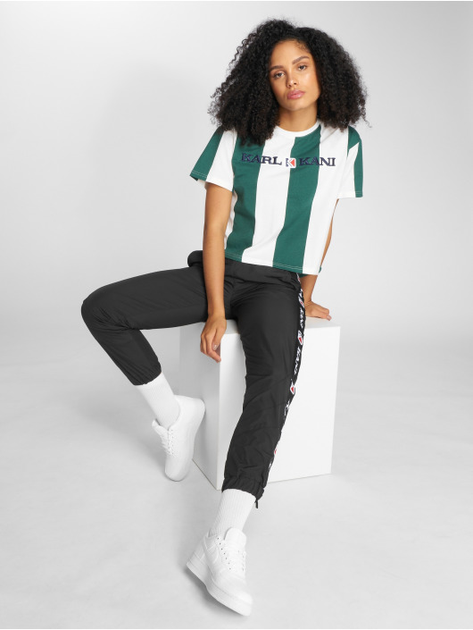 Karl Kani t-shirt Retro Stripe groen