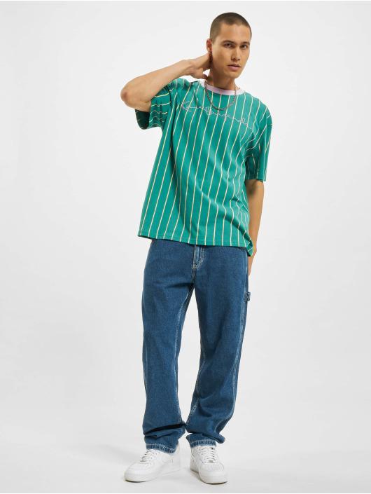 Karl Kani t-shirt Originals Pinstripe groen
