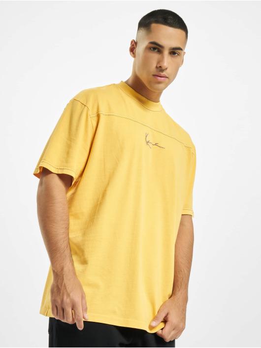 Karl Kani T-Shirt Kk Small Signature Washed jaune