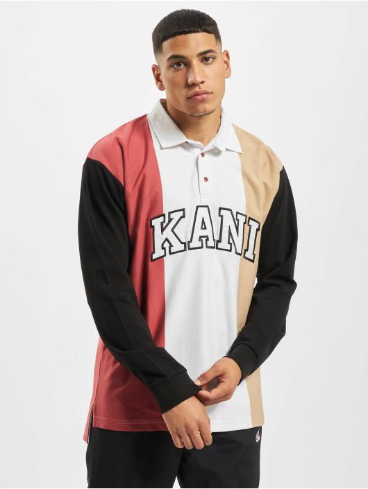 Karl Kani T-Shirt manches longues Kk College Block Rugby blanc