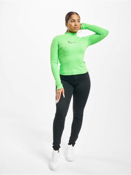 Karl Kani T-Shirt manches longues Kk Small Signature Rib Turtle vert