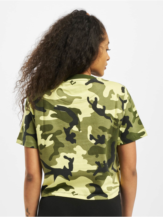 Karl Kani T-shirt Kk Signature Camo Crop Wide mimetico