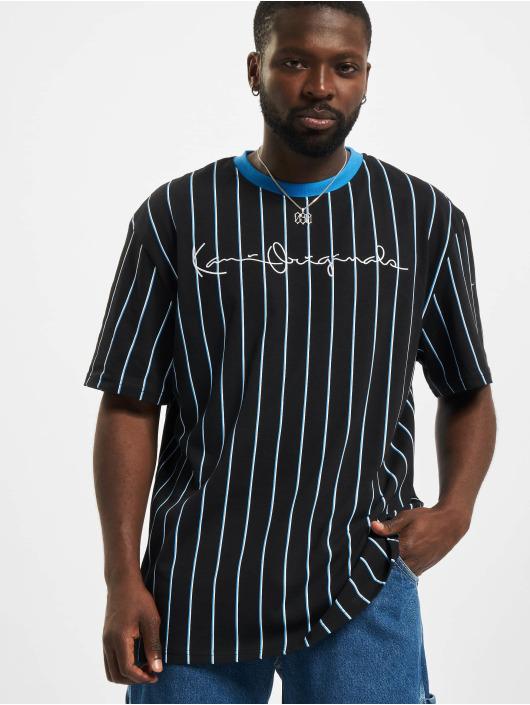 Karl Kani T-Shirt Originals Pinstripe noir