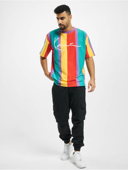 Karl Kani t-shirt Kk Signature Stripe paars