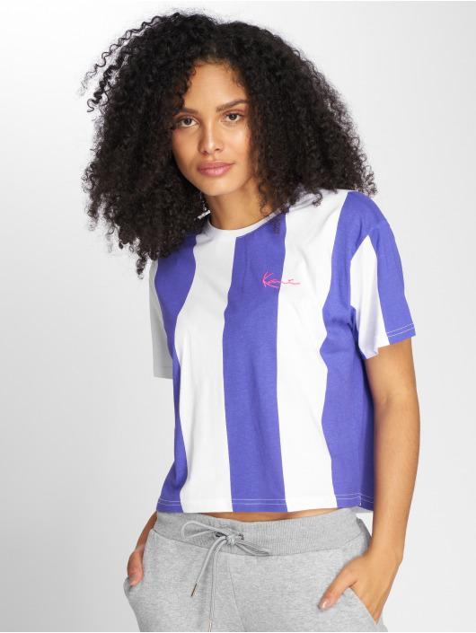 Karl Kani T-Shirt Retro Stripe pourpre