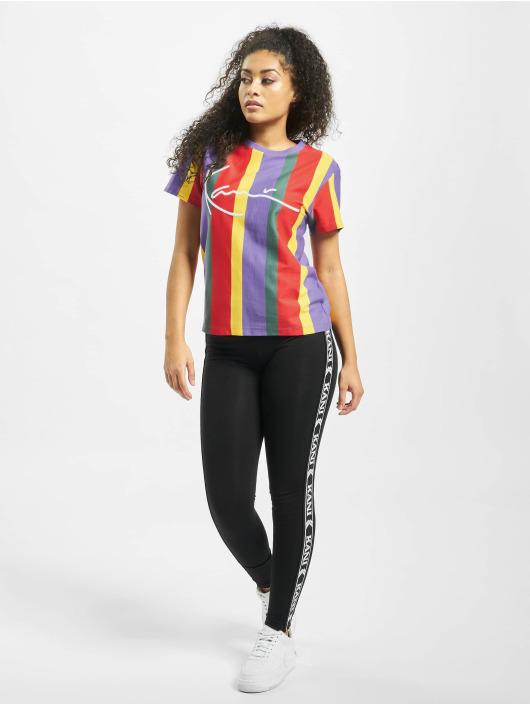 Karl Kani T-Shirt Signature Stripe pourpre