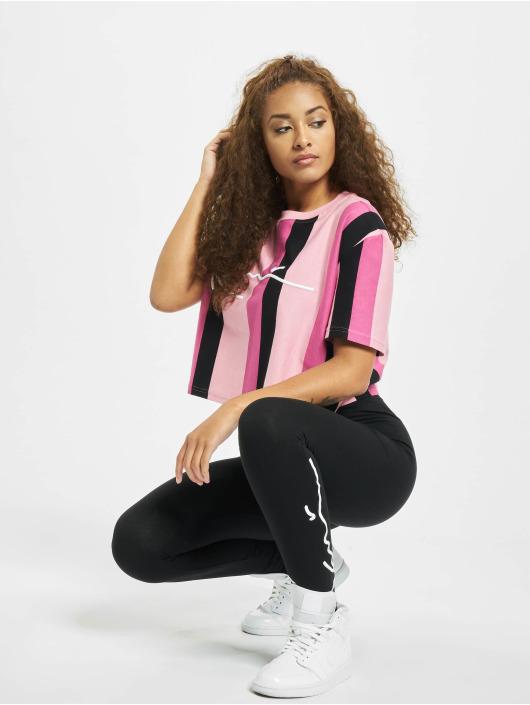 Karl Kani T-Shirt Kk Signature Stripe rosa