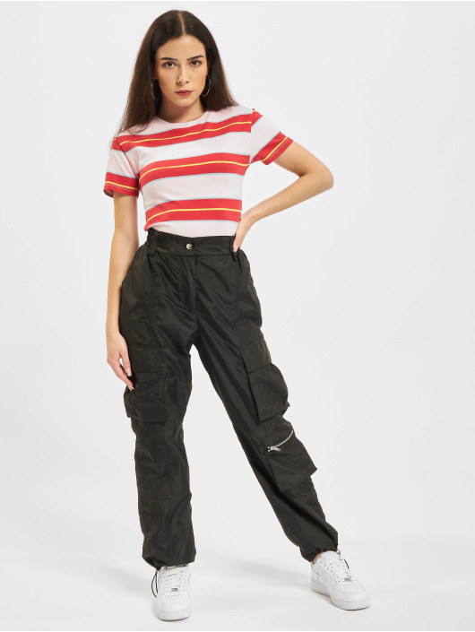 Karl Kani T-shirt Small Signature Stripe rosso