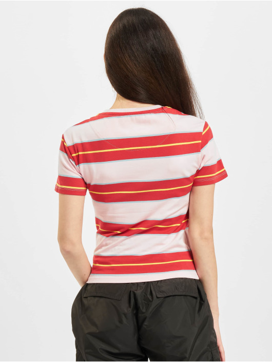 Karl Kani T-Shirt Small Signature Stripe rouge