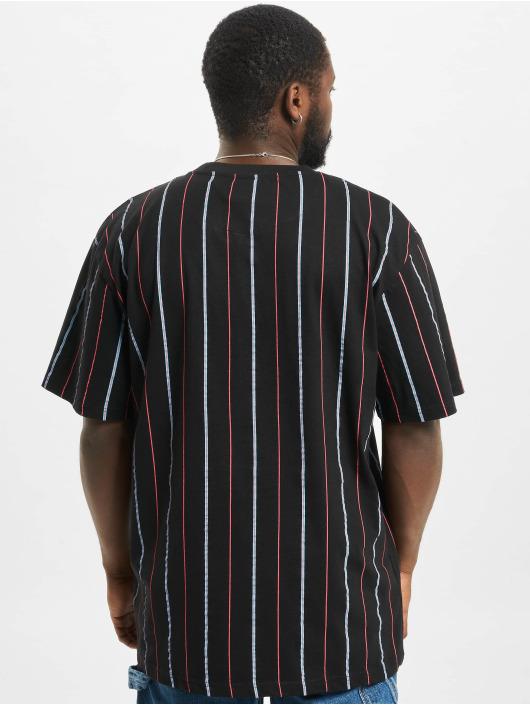 Karl Kani T-Shirt Small Signature Pinstripe schwarz