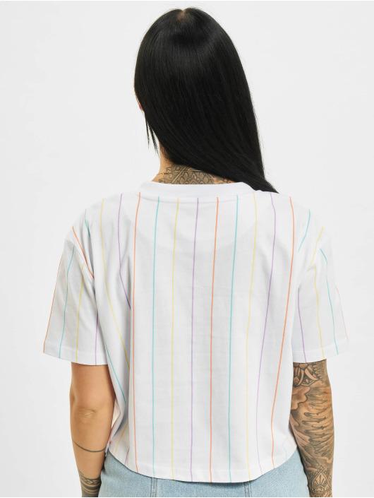 Karl Kani T-Shirt Small Signature Short Pinstripe weiß