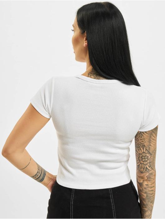 Karl Kani T-Shirt Chest Signature Crop Gathered Rib white