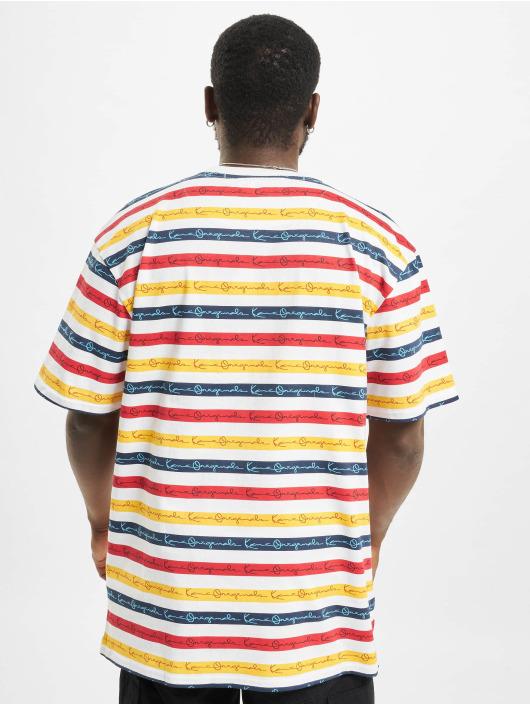 Karl Kani t-shirt Originals Stripe wit