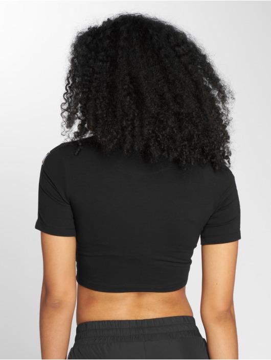 Karl Kani t-shirt Tape Cropped zwart