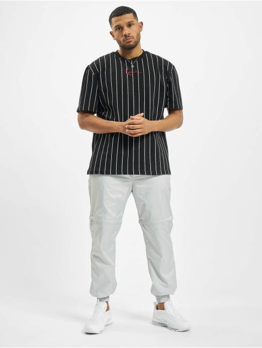 Karl Kani t-shirt Small Signature Pinstripe zwart