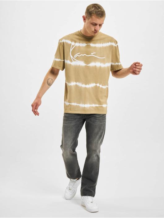 Karl Kani T-shirts Signature Tie Dye beige