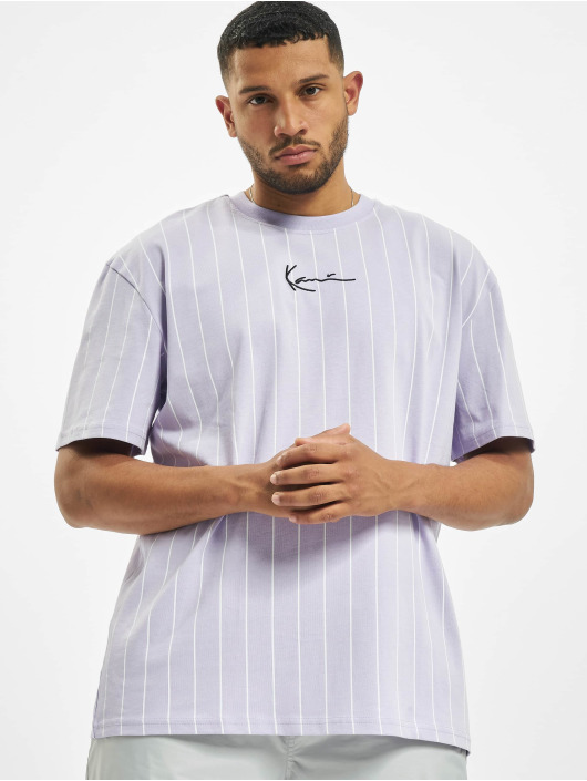 Karl Kani T-shirts Small Signature Pinstripe lilla