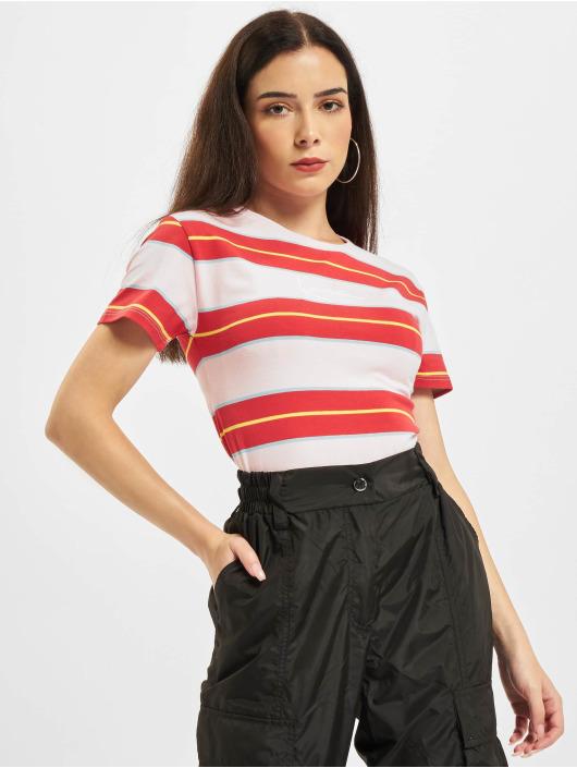 Karl Kani T-shirts Small Signature Stripe rød