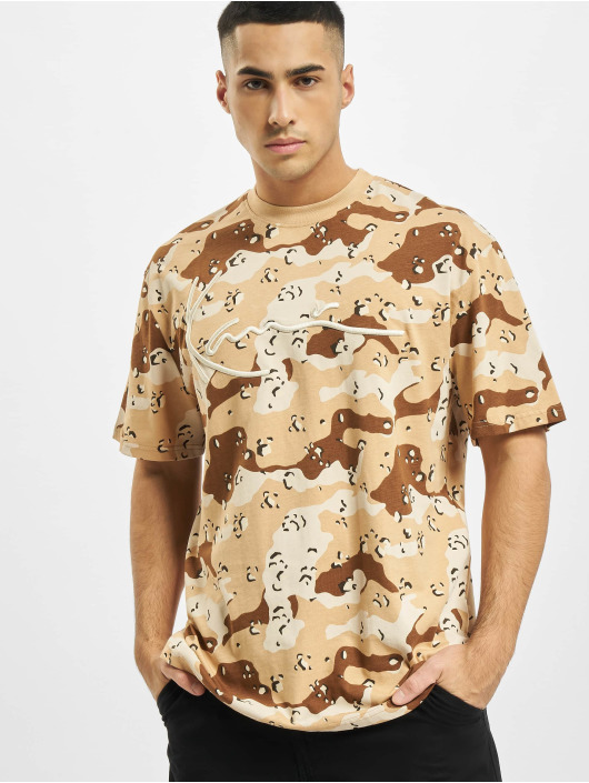 Karl Kani T-Shirty Signature Camo bezowy