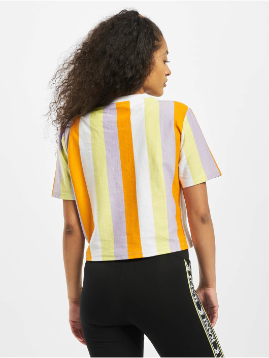 Karl Kani T-Shirty Kk Signature Stripe Crop Wide bialy