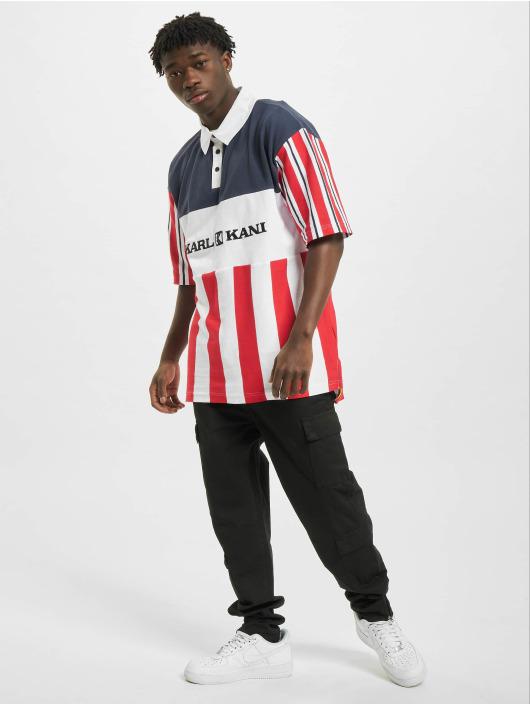 Karl Kani T-Shirty Retro Block Stripe bialy