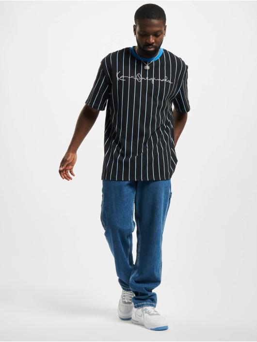 Karl Kani T-Shirty Originals Pinstripe czarny