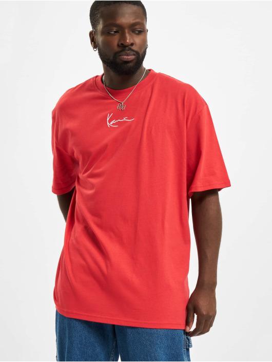 Karl Kani T-Shirty Small Signatur czerwony