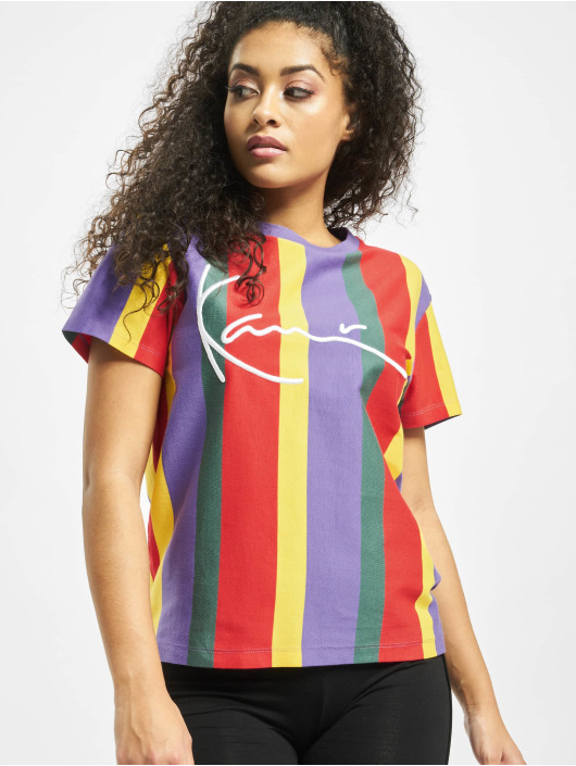 Karl Kani T-Shirty Signature Stripe fioletowy