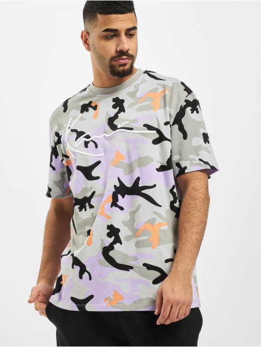Karl Kani T-Shirty Kk Camo Signature moro