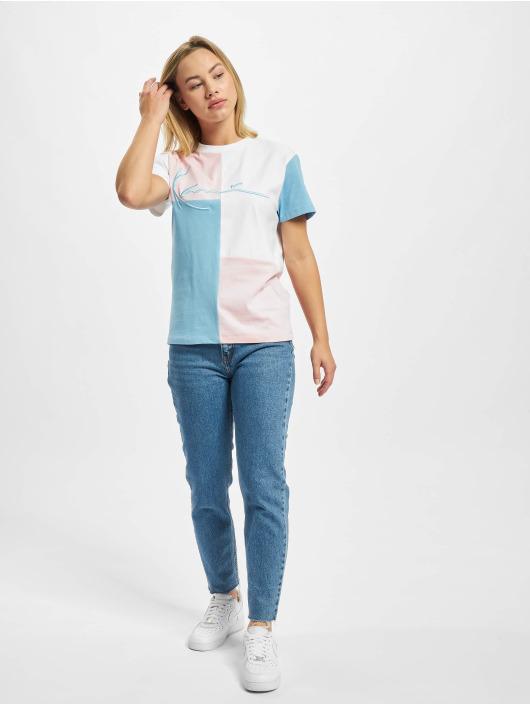 Karl Kani T-Shirty Signature Block niebieski