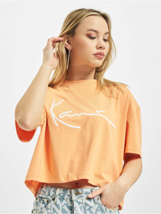 Karl Kani T-Shirty Signature pomaranczowy