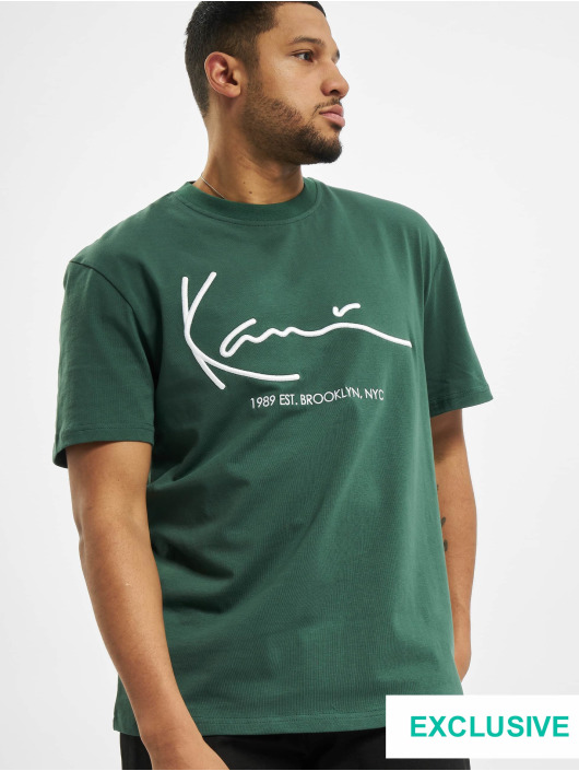 Karl Kani T-Shirty Signature Brk zielony