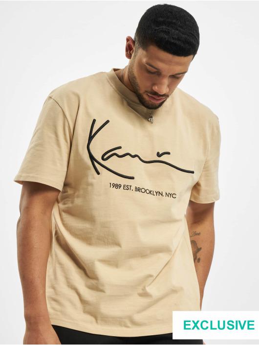 Karl Kani T-skjorter Exclusiv Signature Brk beige