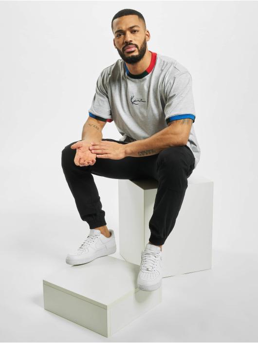 Karl Kani T-skjorter Signature Ringer grå
