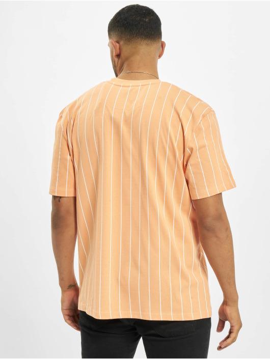 Karl Kani T-skjorter Small Signature Pinstripe oransje