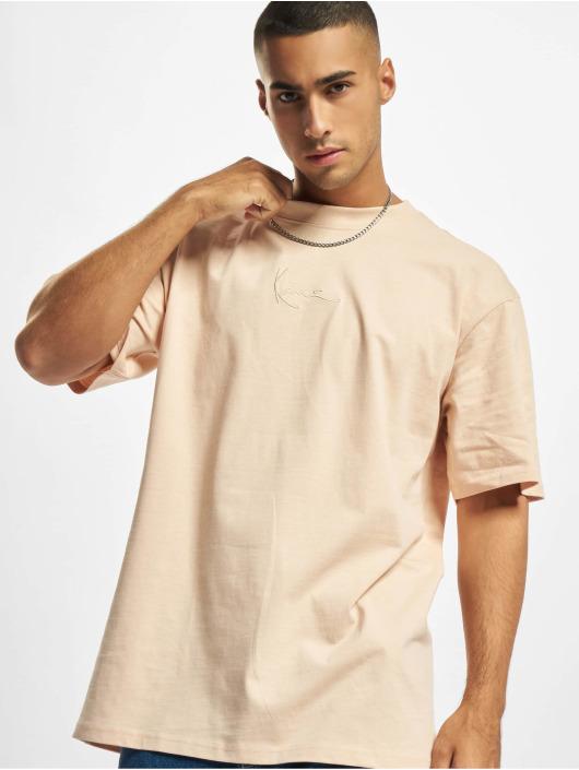 Karl Kani T-skjorter Small Signature rosa