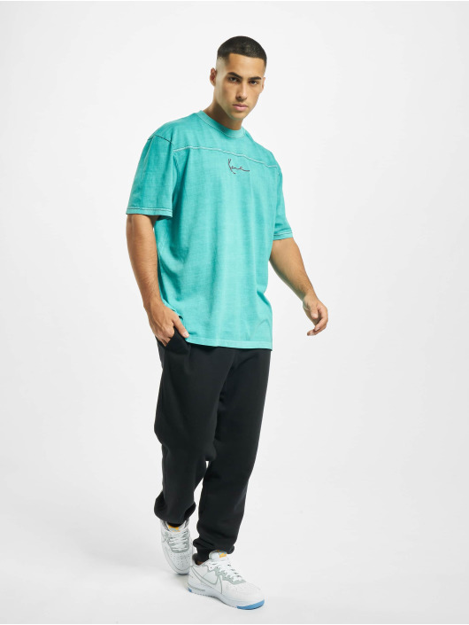 Karl Kani T-skjorter Kk Small Signature Washed turkis