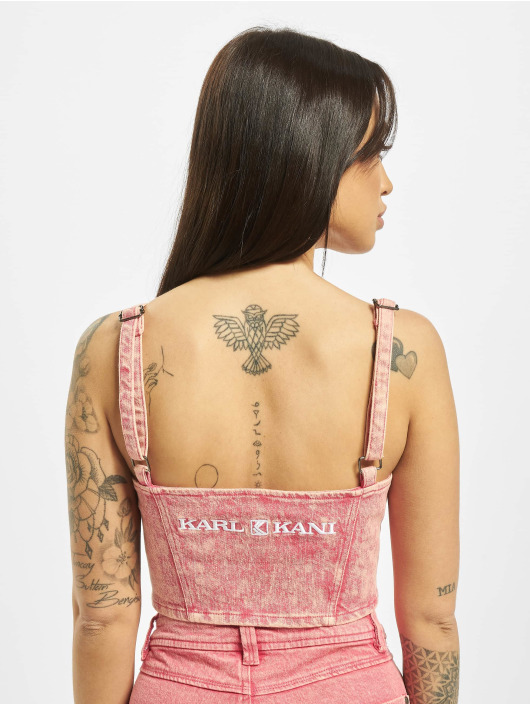 Karl Kani Top Retro Denim rosa