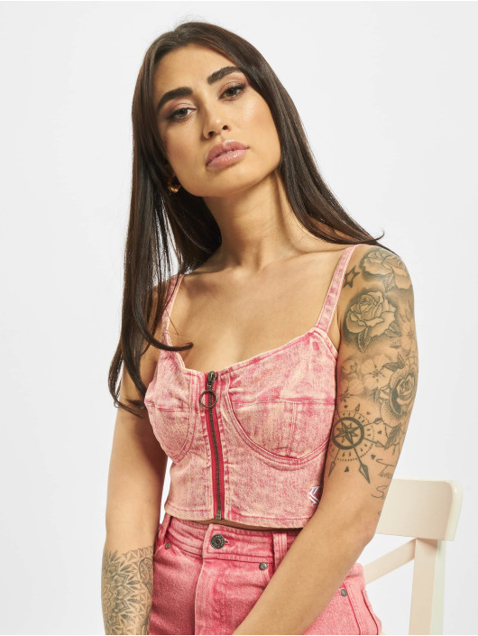 Karl Kani Top Retro Denim rose