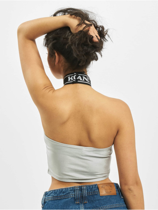 Karl Kani Top College Sleeveless silver colored