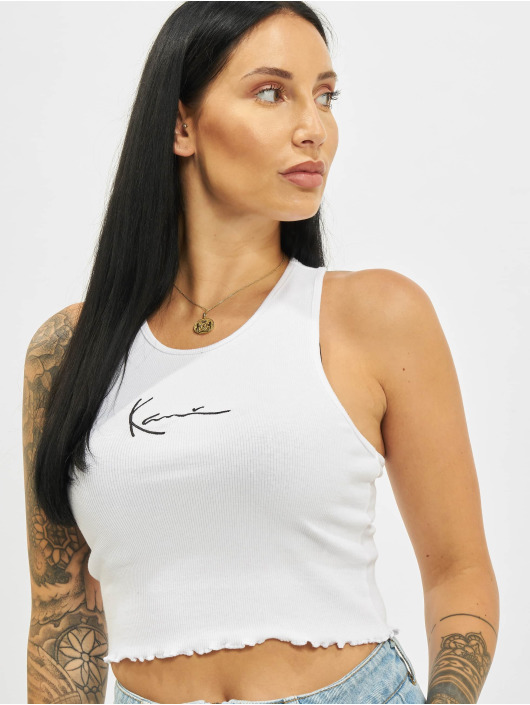 Karl Kani Top Small Signature Washed weiß