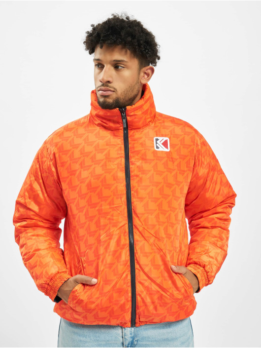 Karl Kani Vattert jakker Retro Reversible oransje