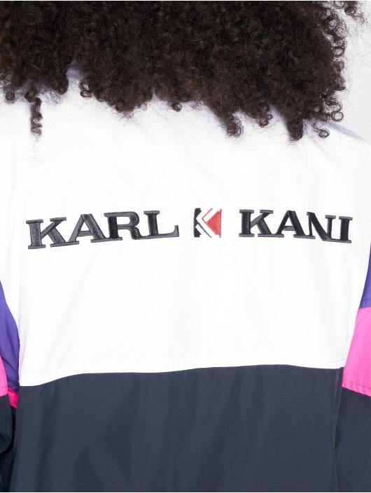 Karl Kani Veste mi-saison légère Retro blanc