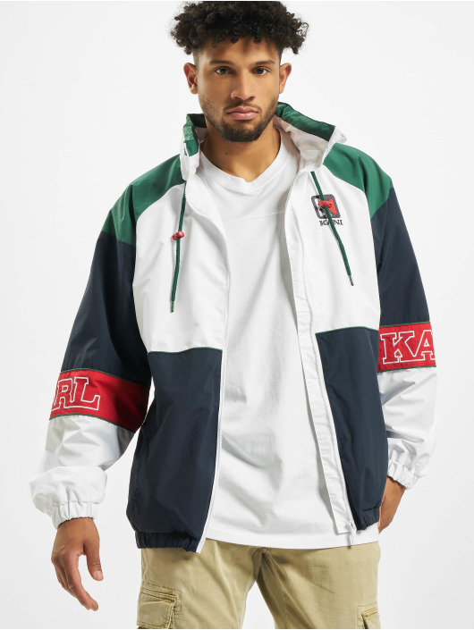 Karl Kani Retro Block Windbreaker WhiteNavyRedGreen