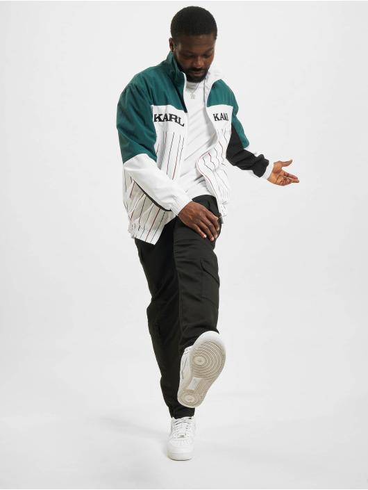 Karl Kani Veste mi-saison légère Retro Block Pinestripe blanc