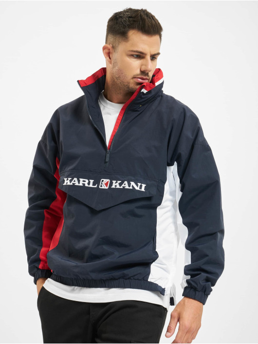 Karl Kani Retro Block Windbreaker NavyRedWhite