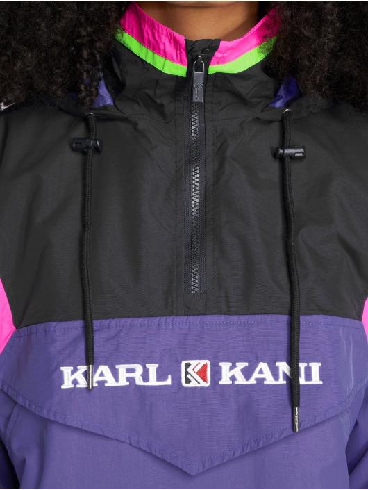 Veste Karl Retro saison Blocked Mi Pourpre Légère Kani 498110 Femme 76yfgb
